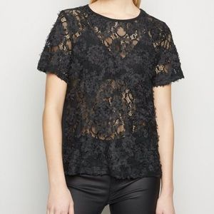 Sexy lace sheer t-shirt. NWTs size small